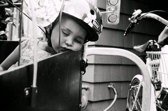Bike nap. Photo: Patrick Barber, blog.mcguirebarber.com.