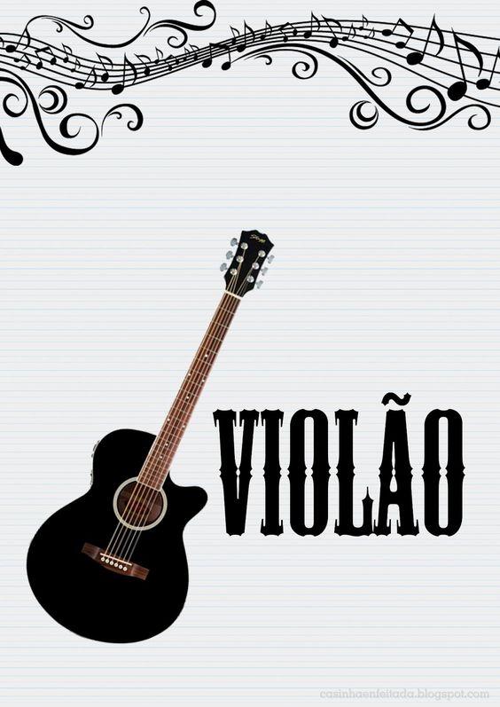 Capas Para Caderno De Musica E Instrumentos Musicais Caderno De