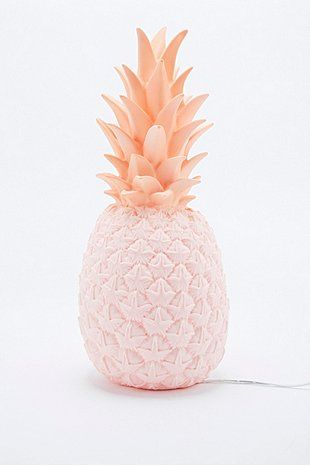 Goodnight Light - Lampe ananas avec prise européenne rose