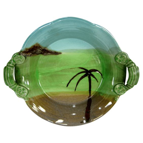 Handmade Ceramic Tropical Island Dish from Vintage Collect - Hunters Alley