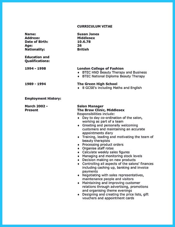 resume resume examples and dream job on pinterest