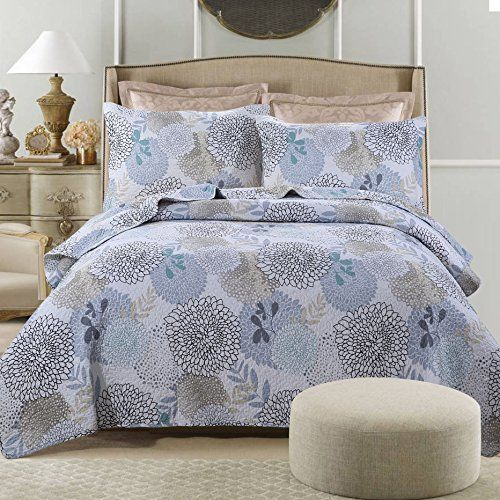 Hnnsi Classical Floral Cotton Quilt Bedspread Set 3 Piece Https Www Amazon Com Dp B077g1x7sq Ref Cm Sw R Pi Dp Quilt Sets Quilted Bedspreads Coverlet Set