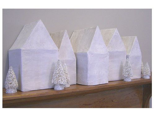 Make a mini winter wonderland to top your mantel, bookshelf, or dresser!