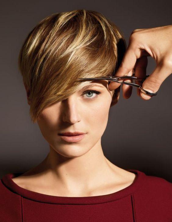 April, coupe courte, mèche longue ou frange!? AH 2012 #Hair #ShampooExpert