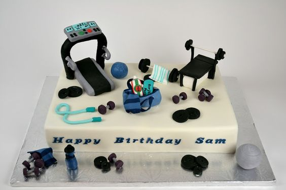 Gym Themed Cake Toppers