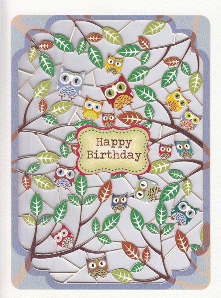 Lasergesneden kaart - Happy Birthday