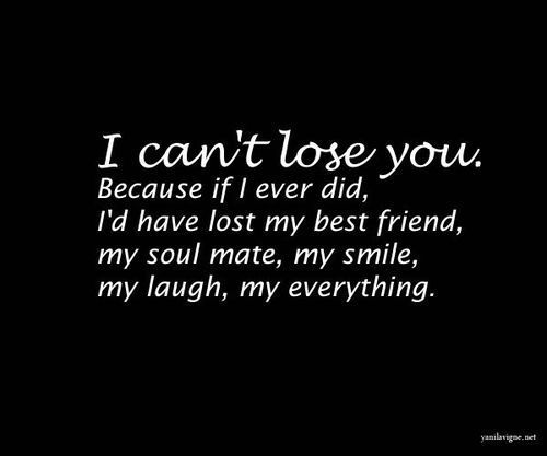 My Best Friend Died Suddenly Quotes: I Can't Lose You