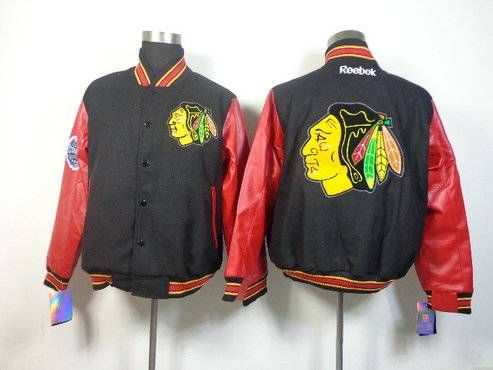 Mens Chicago Blackhawks Ice Hockey Jacket Standing Collar Real Embroidery And Worsted Size M Xxxl With Images Jackets Blackhawks Jerseys Blackhawks
