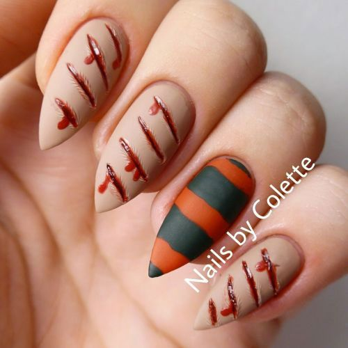 Nagel Model 2018 25+ Beste Halloween Nail Art Designs