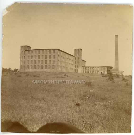 Cotton Factory: C1900 PHOTO TX Texas Denison Cotton Mill Factory Building