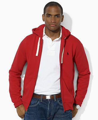 Polo Ralph Lauren Men\u0026#39;s Hoodie, Core Full Zip Hooded Fleece