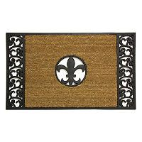 Fleur de lis black welcome mat rubber door mat welcome mats and sam 39 s club - Fleur de lis doormat ...