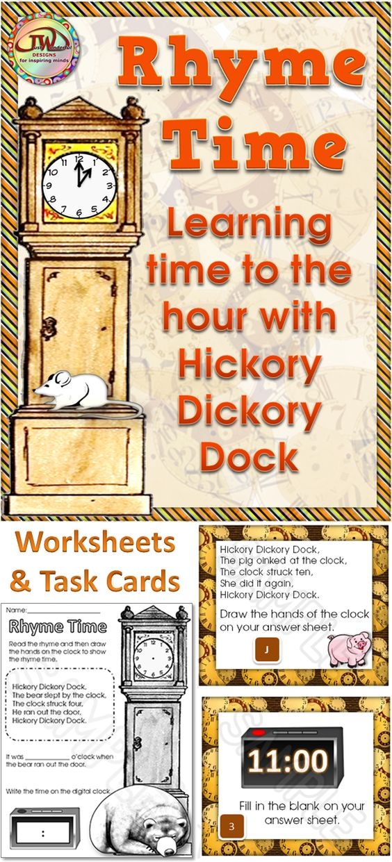 Telling Time for Beginners with Hickory Dickory Dock and Tell Time