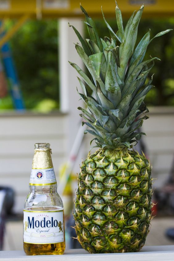 beer and pineapple