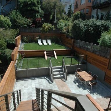 Split level garden outdoor design ideas pictures remodel for Split level garden designs