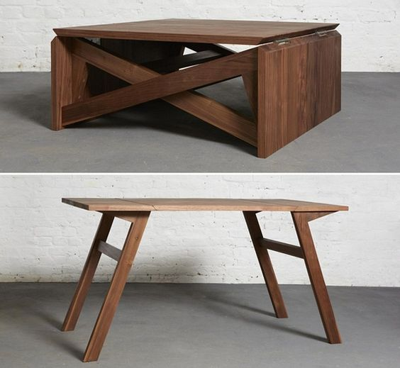 Coffee Table Folds Out Into A Dining Table