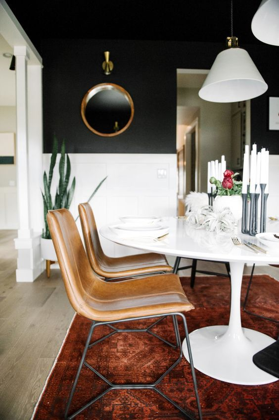 Dark Dining Room Modern Ideas Dining Room Chairs Leather Dining