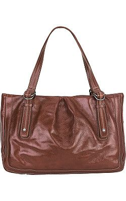 pelle studio glazed leather tote