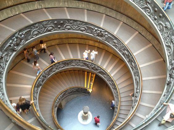 Dubbele wenteltrap (helix), Vaticaan Museum, Rome, Italy