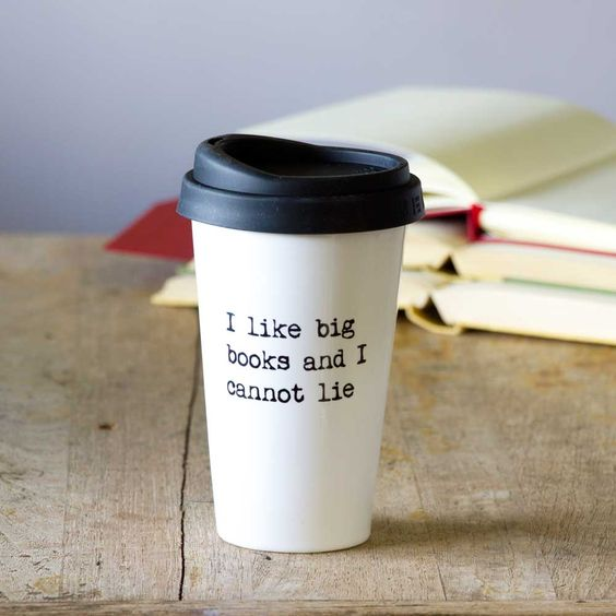 personalised travel mug for book lovers.