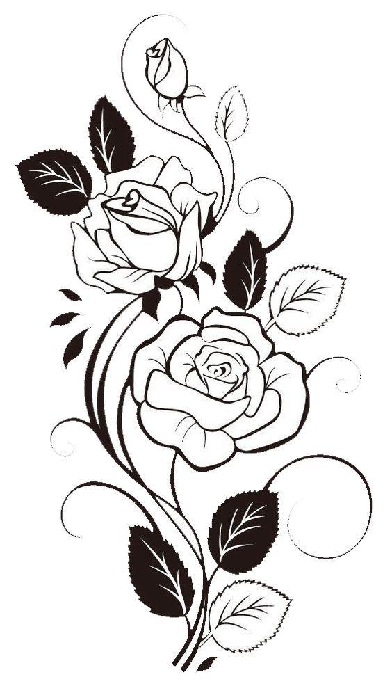Flowers Tattoo Images Pola Bunga Sketsa Menggambar Bunga