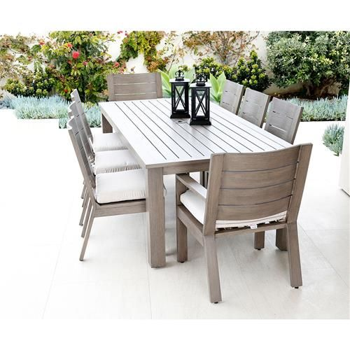 Sunset West Laguna Modern Brown Rectangular Outdoor Dining Table Modern Outdoor Dining Outdoor Tables And Chairs Outdoor Dining Furniture