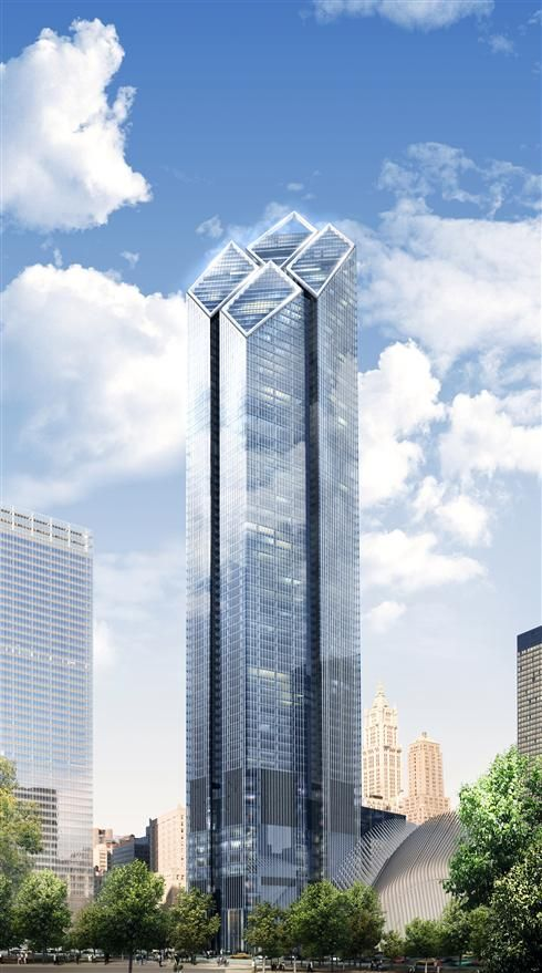 #4) Two World Trade Center (200 Greenwich St) | 1,350 ft | Lord Norman Foster (Foster + Partners)