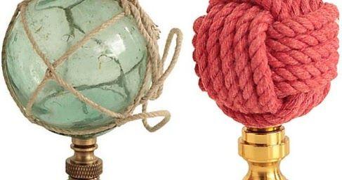 Decorative Coastal Nautical Ocean Lamp Finials Lamp Finial Nautical Lamps Finials