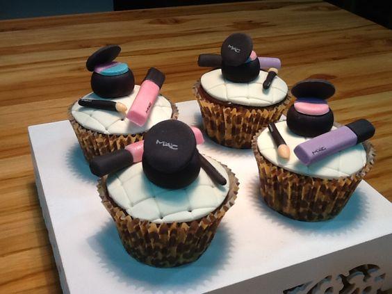 Cupcakes de maquiagem