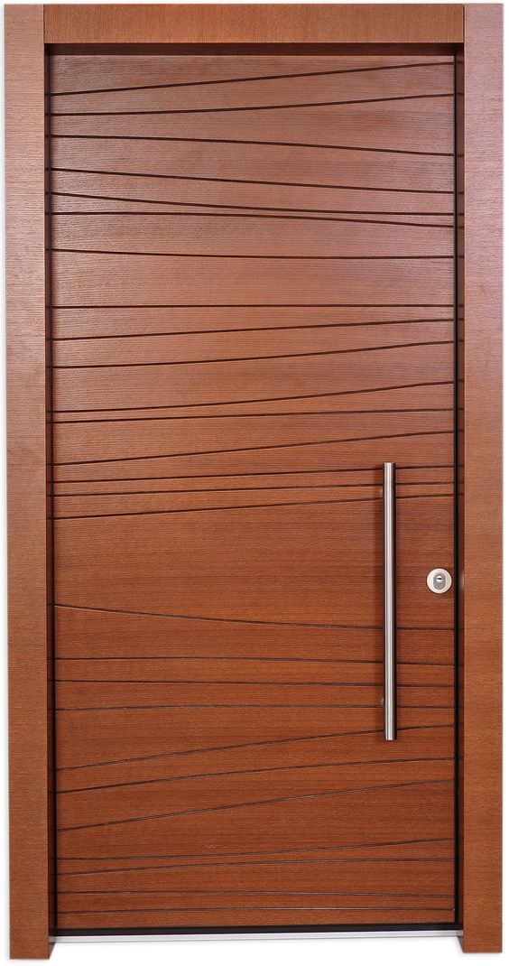 Shdema door is designed using a simple free line engraved for Simple entrance door designs