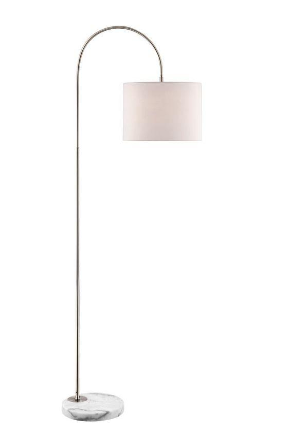 72 Inch Brushed Steel Mini Arc Floor Lamp