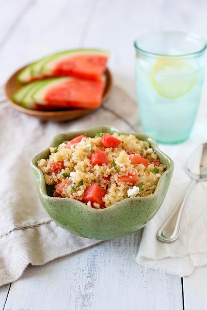 Quinoa Salad with Watermelon and Feta by