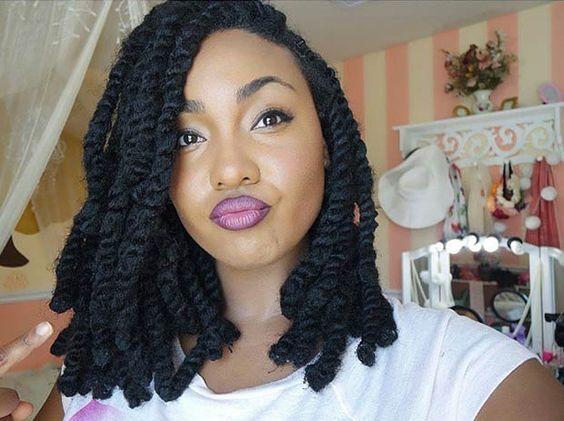 19 Fabulous Kinky Twists Hairstyles