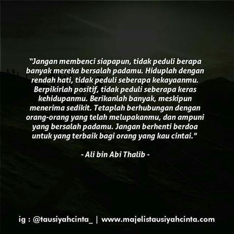 Pin By Aisyah Nur On Life Quotes In 2020 Ali Quotes Cinta Quotes