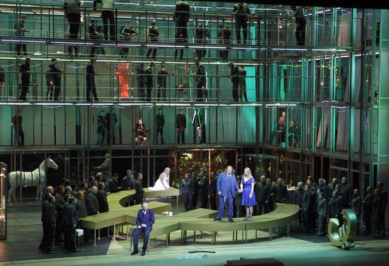 Götterdämmerung from Bayerische Staatsoper München. Production by Andreas Kriegenburg. Sets by Harald B. Thor.