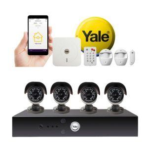 Yale Smart Home Alarm 1080p Wired Cctv Kit Bundle Cctv Kits
