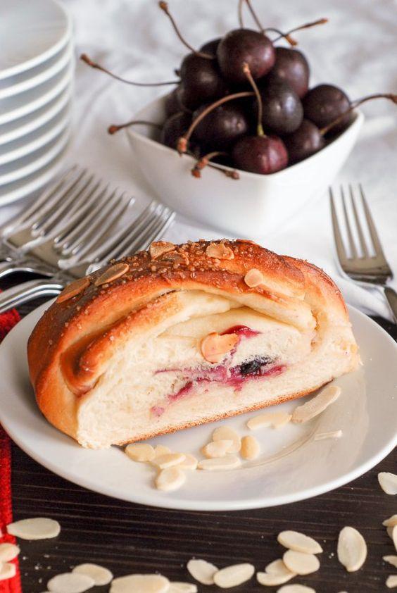 Vegan Cherry Almond Cream Cheese Braid