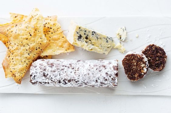 Fig And Walnut Roll Recipe | Figs, Blue Cheese and Cheese
