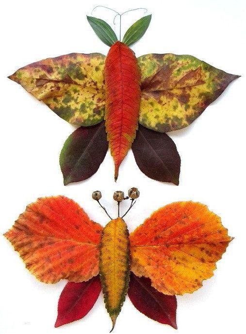 31 foto ideas para trabajar con hojas secas im genes for Decoracion con hojas secas