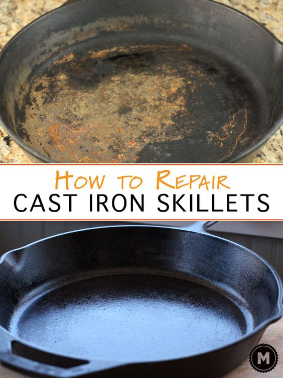 cleaning a cast iron skillet skillets homemade and pizza. Black Bedroom Furniture Sets. Home Design Ideas