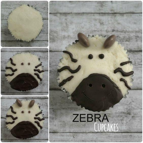 Wie macht man Zebra Cupcakes
