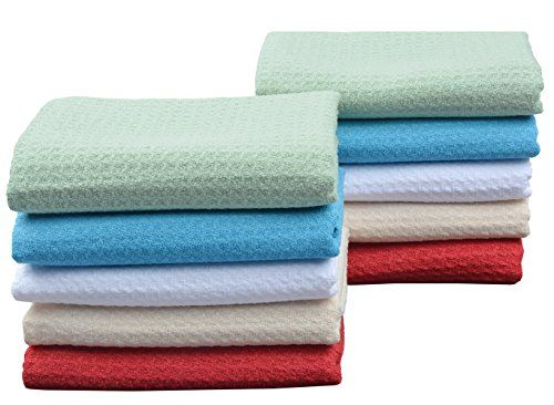 Sinland Microfiber Dish Drying Towels Dish Towels Waffle ...