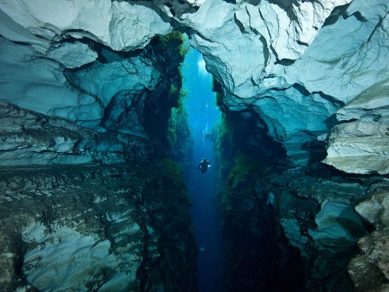 Explore underwater caves.