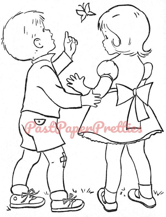 Vintage Printable Coloring Book Pages Coloring Day C 1960s Etsy In 2021 Vintage Coloring Books Coloring Books Coloring Pages