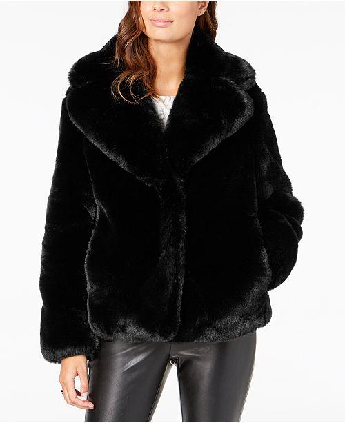 Main Image Black Faux Fur Coat Cropped Faux Fur Coat Winter Faux Fur Coat