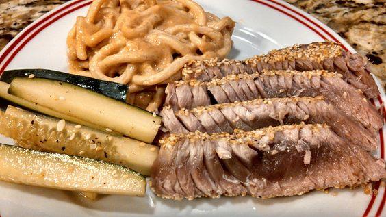 Seared Ahi Tuna with Sesame Noodles