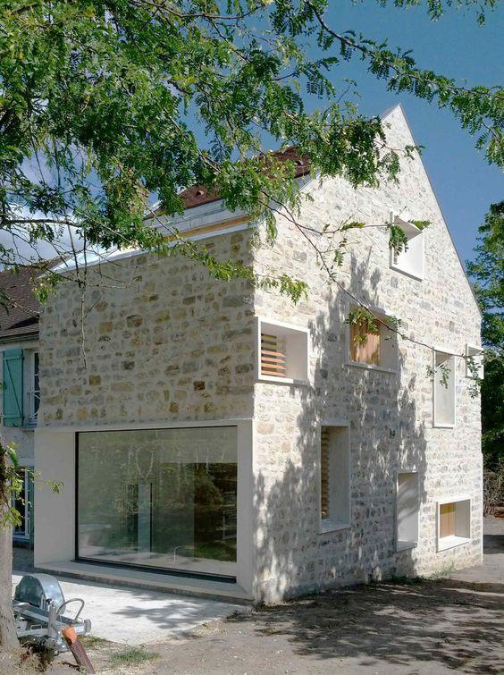 annuaire architectes avivre projet extension de maison en pierre atelier 32 architectes. Black Bedroom Furniture Sets. Home Design Ideas