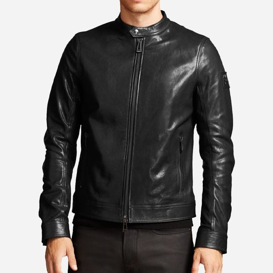 Yoki Faux Suede Trim Faux Leather Jacket | Faux leather