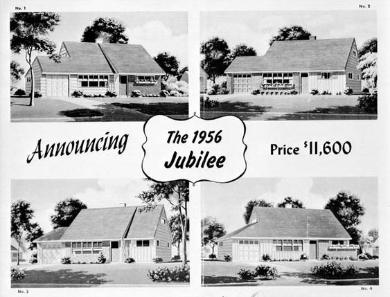 Sales flyer for the 1956 jubilee courtesy of the for Jubilee home builders