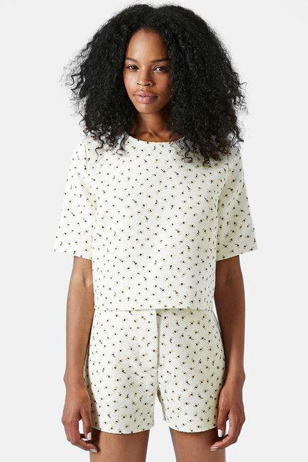 Boutique Textured Floral Top